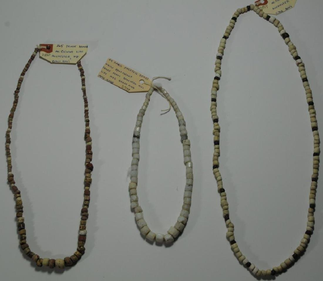 3 TRADE BEAD NECKLACES FROM McCLINTOCK & BOUGHTON,