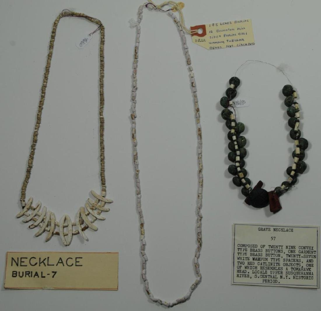 LOT OF 3 TO INCLUDE 2 NECKLACES AND 1 STRAND OF