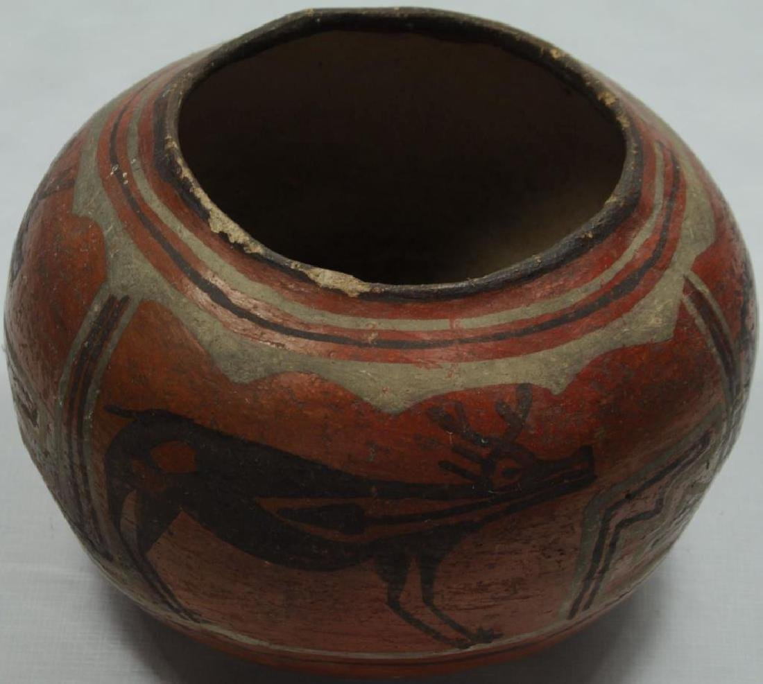 PUEBLO POTTERY MOTIF: 3 BUCK DEER WITH ANTLERS IN
