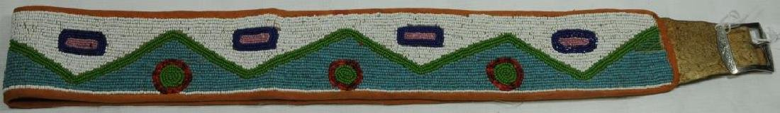 BEADED BELT COLLECTED IN MONTANA, PROBABLY TURN