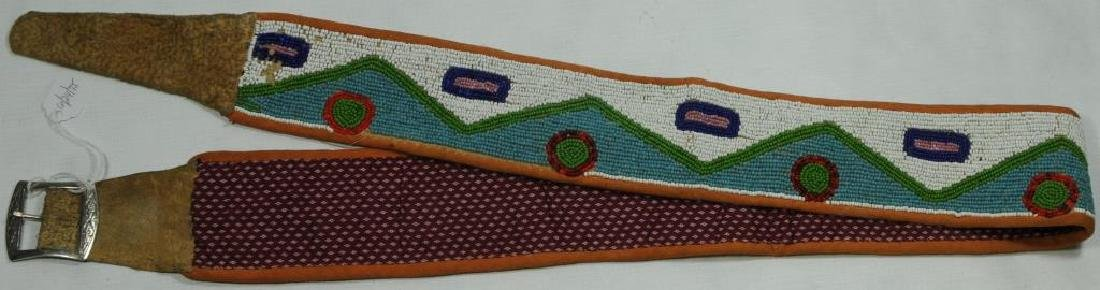 BEADED BELT COLLECTED IN MONTANA, PROBABLY TURN - 2