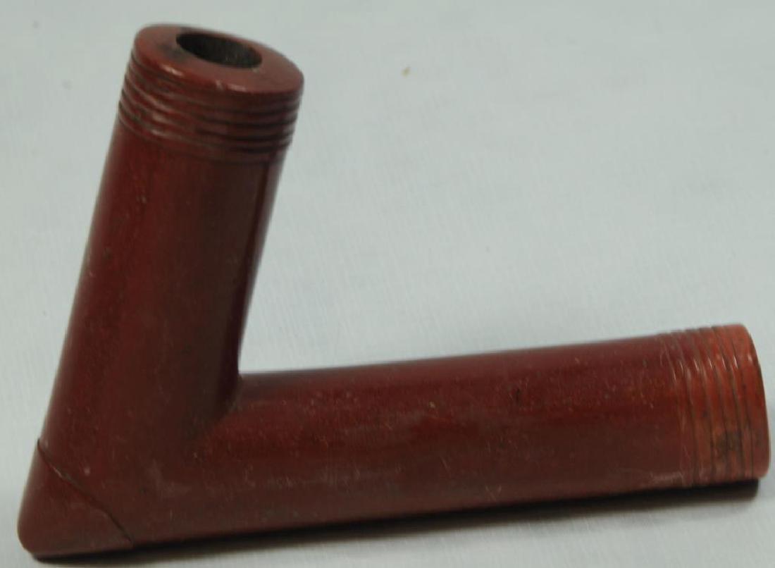 CATLINITE PIPE BOWL CALUMET TYPE.  BOWL AT C. 55