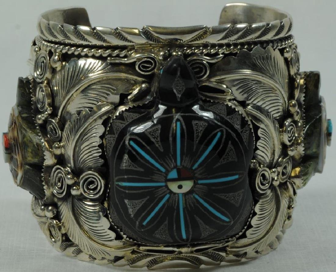 SILVER CUFF WITH TURTLE