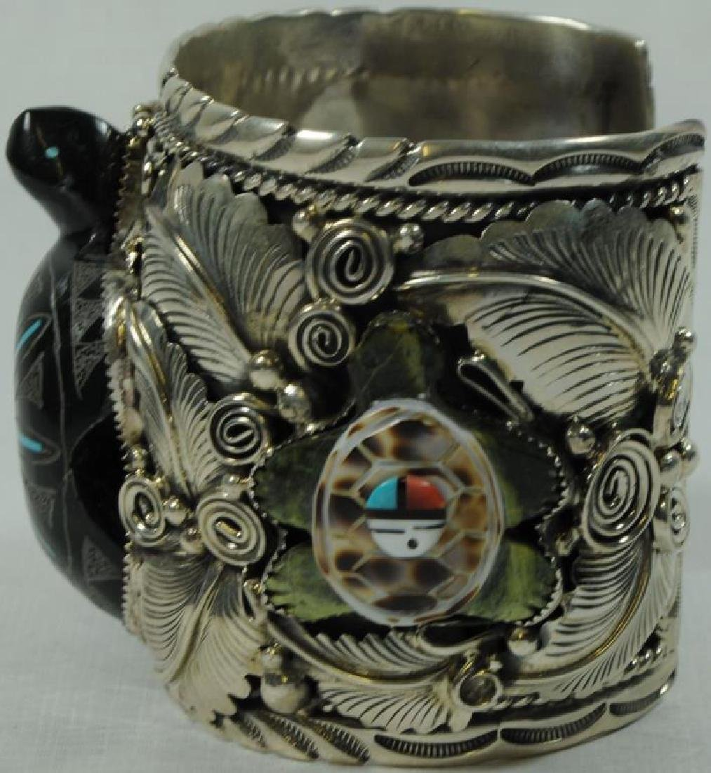SILVER CUFF WITH TURTLE - 2