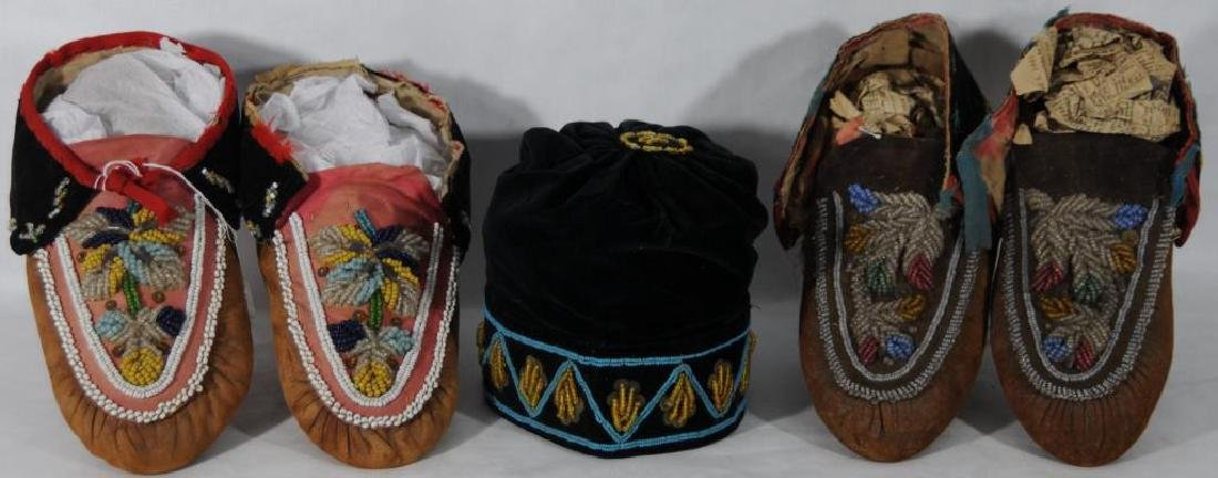 LOT OF 5 ITEMS TO INCLUDE 2 PAIRS OF BEADED