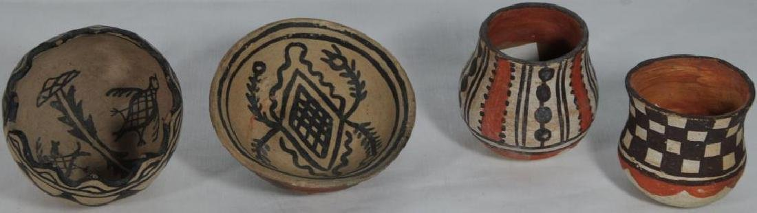 "LOT OF 4 PIECES OF POTTERY TO INCLUDE ""PUEBLO C."