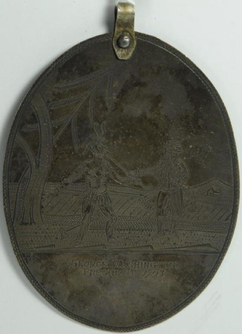 FINE LARGE EARLY ENGRAVED SILVER PENDANT SHOWS