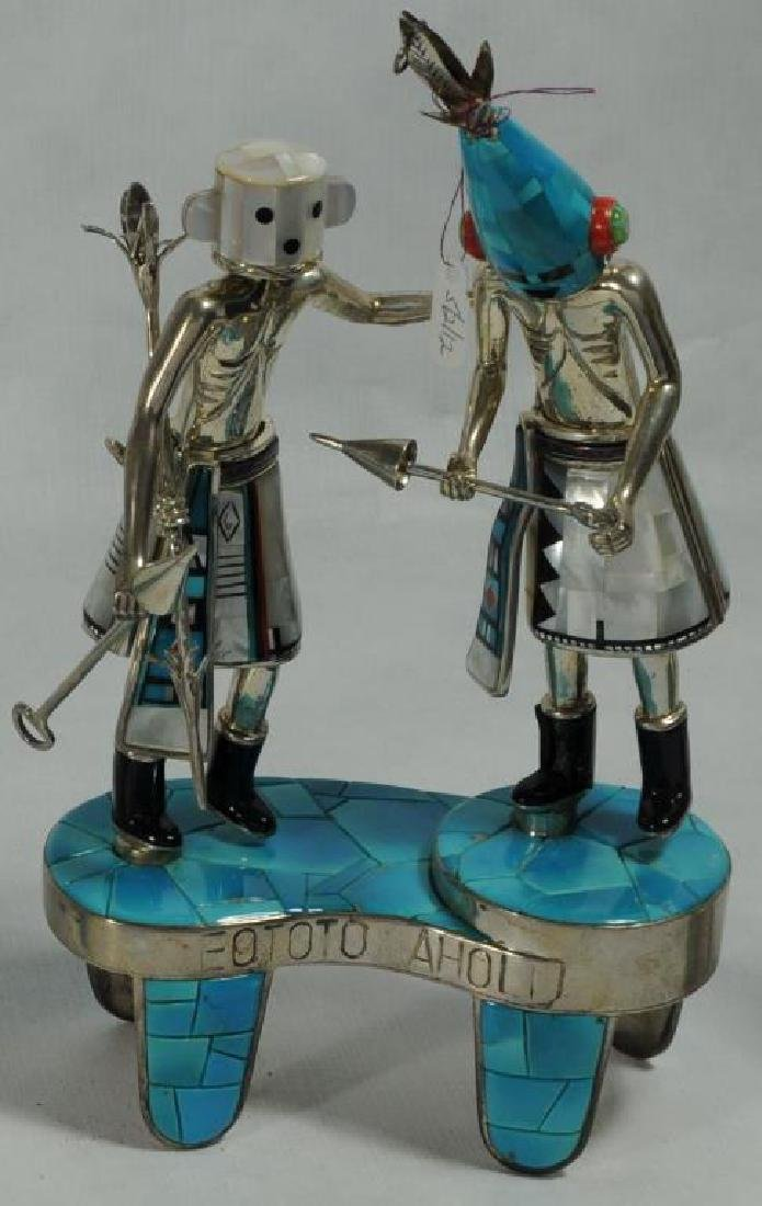 """""""EOTOTO AHOLI"""" STERLING SILVER AND TURQUOISE"""