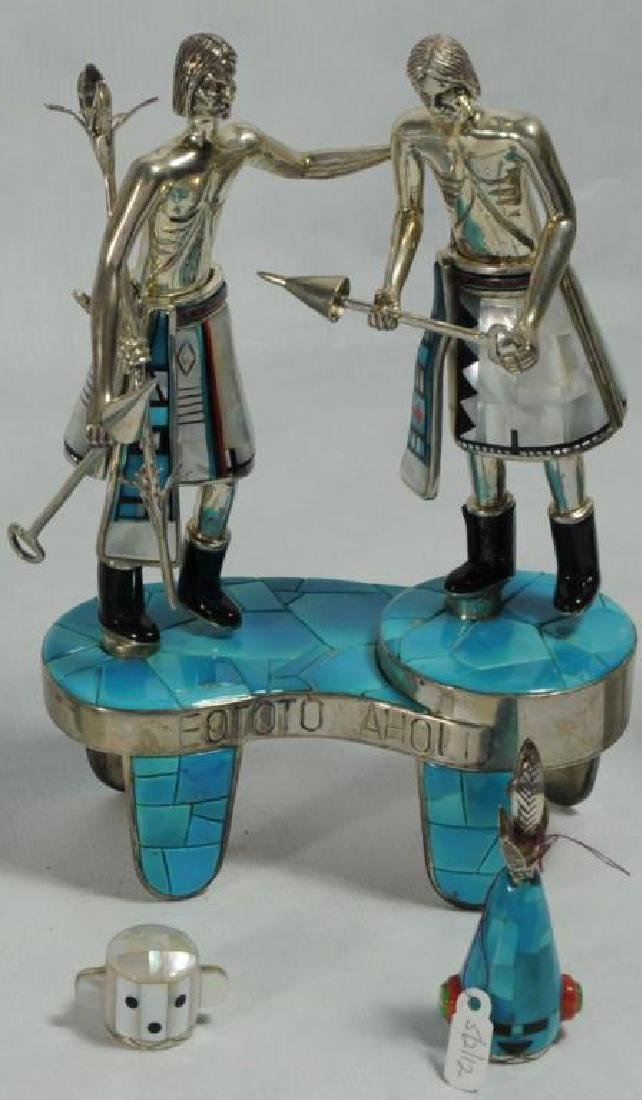 """""""EOTOTO AHOLI"""" STERLING SILVER AND TURQUOISE - 2"""