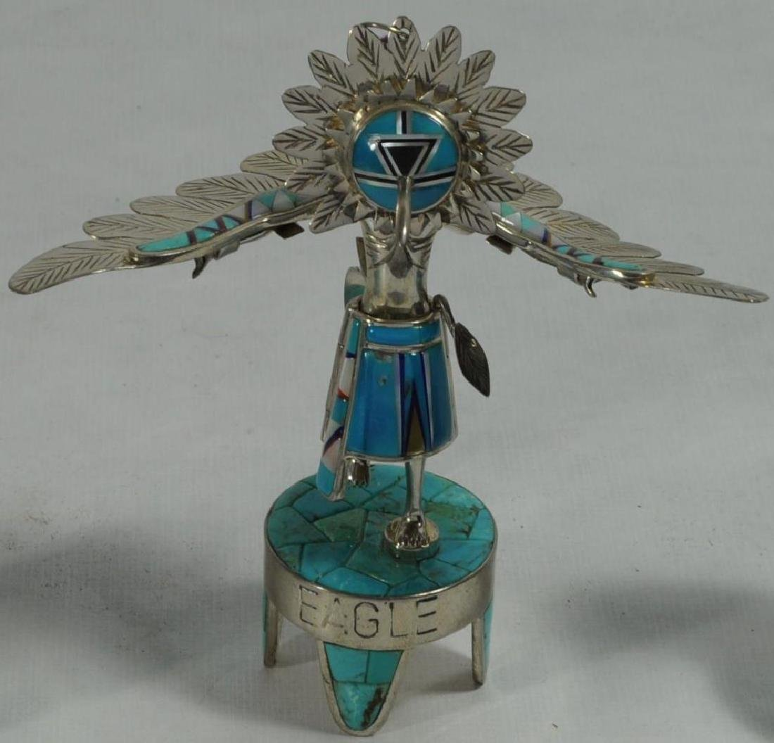 """EAGLE"" STERLING SILVER AND TURQUOISE KACHINA BY"