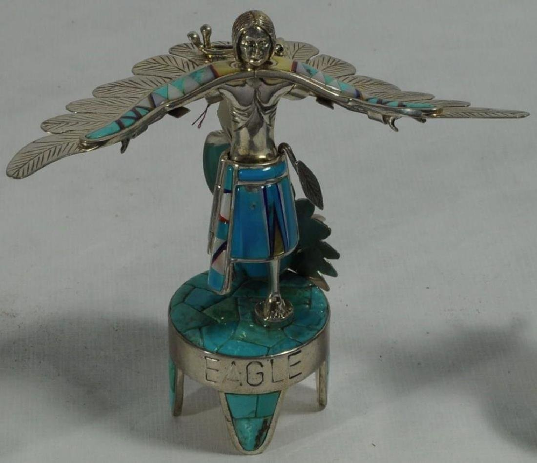"""EAGLE"" STERLING SILVER AND TURQUOISE KACHINA BY - 2"