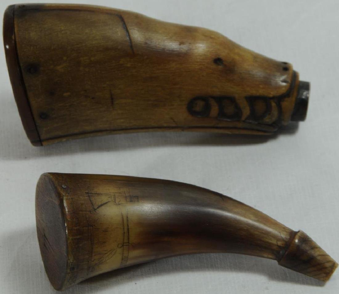 LOT OF 2 ITEMS TO INCLUDE INDIAN CARVED HORN