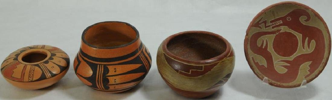 LOT OF 4 PIECES OF SOUTHWEST POTTERY TO INCLUDE