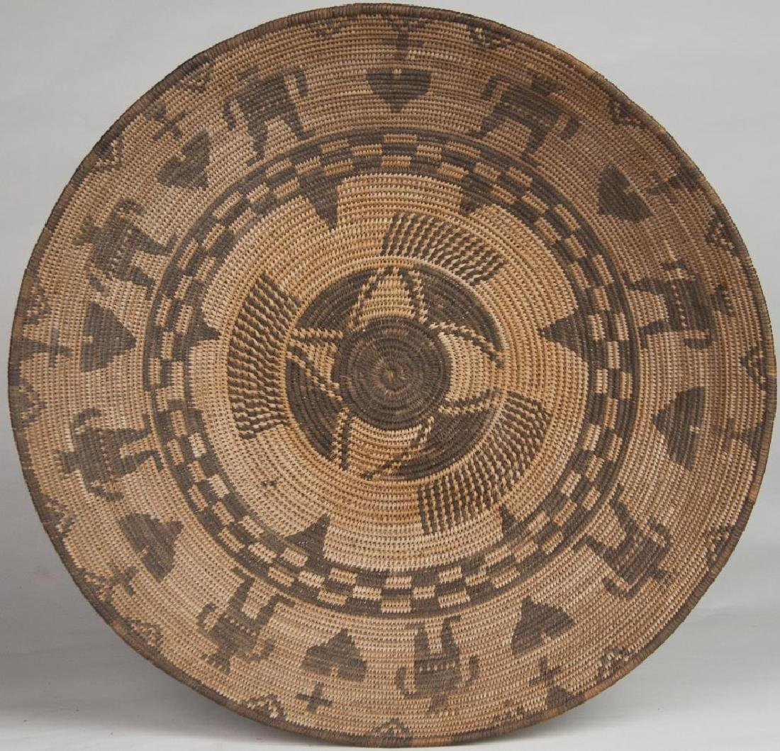 AN EXCEPTIONAL WESTERN APACHE BOWL, WOVEN WITH