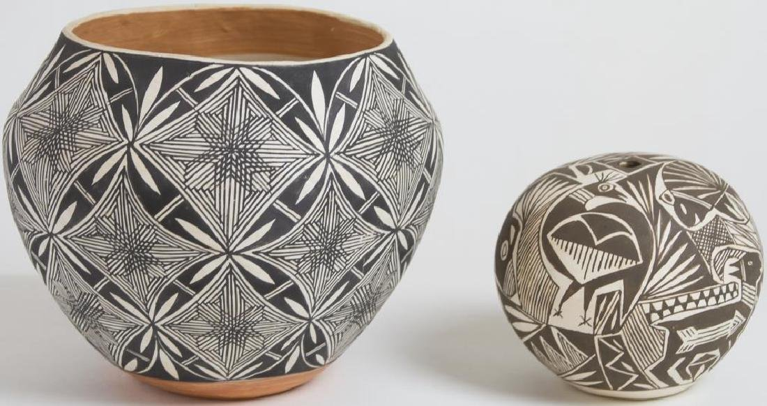 ACOMA POTTERY OLLA, BLACK FRIENDSHIP GEOMETRIC