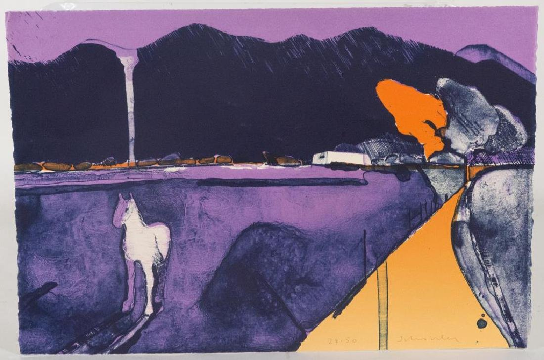 """""""MYSTERY HORSE"""" LITHOGRAPH ON CREAM WOVE PAPER,"""