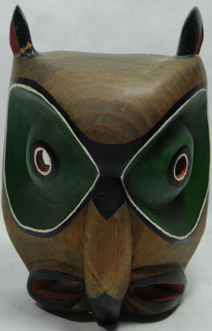 NORTHWEST COAST MASK I BELIEVE THE WOOD IS ALDER.