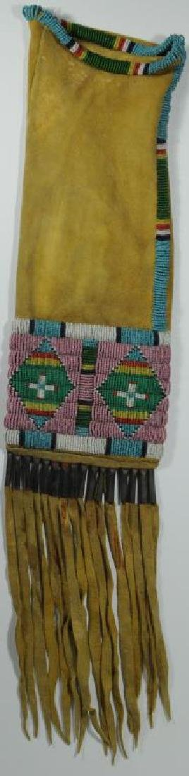 CROW DOUBLE DIAMOND PIPE BAG HAND SEWN (SINEW?)