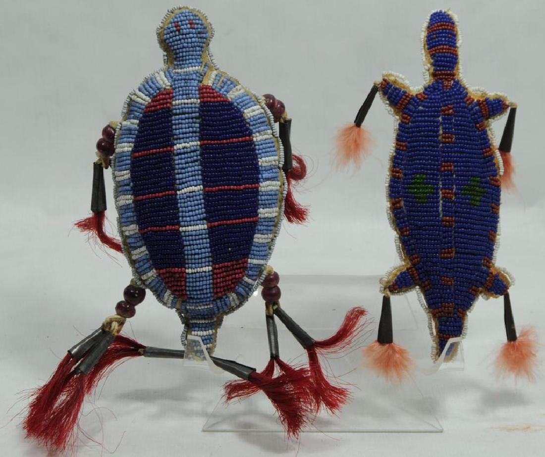 LOT OF 2 PLAINS INDIAN BEADED FETISHES TO INCLUDE