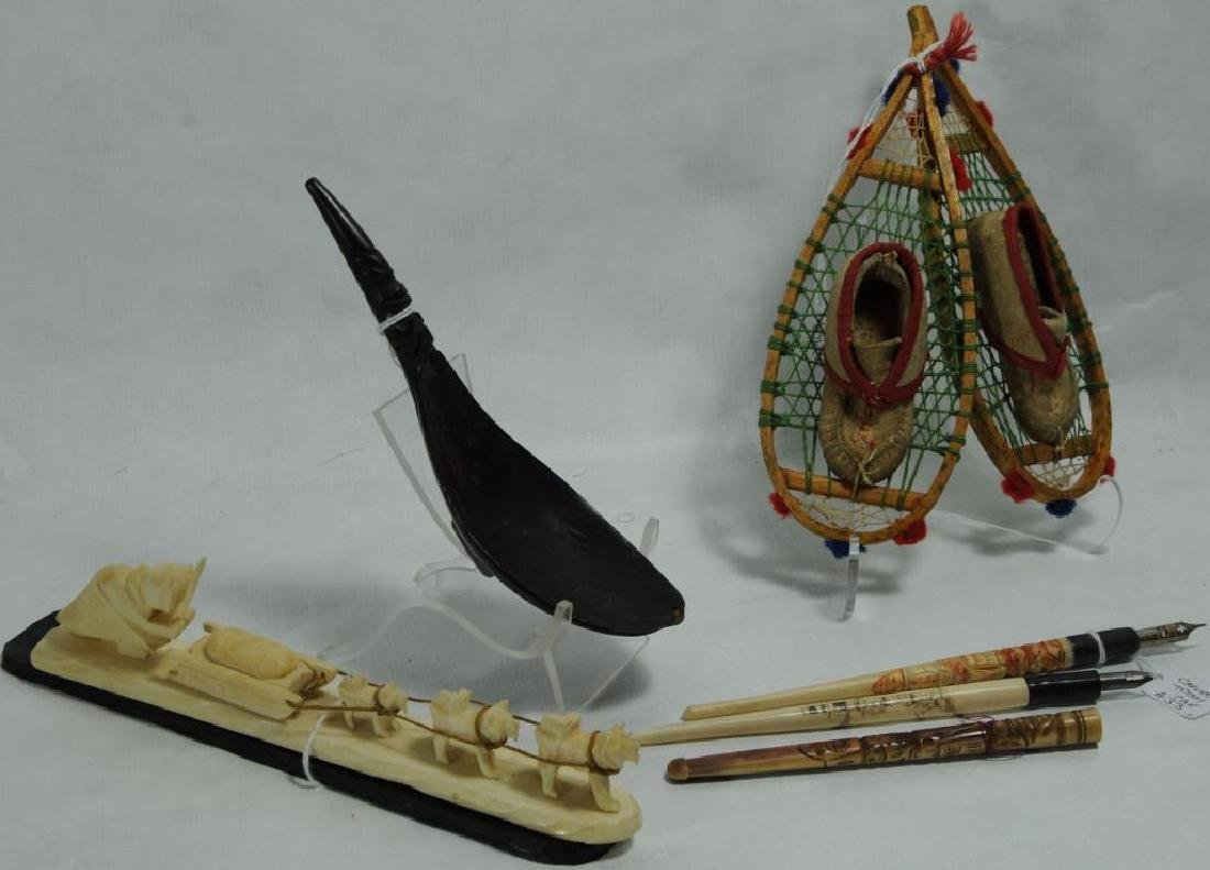 LOT OF 7 MISC. ITEMS TO INCLUDE PAIR OF MINIATURE