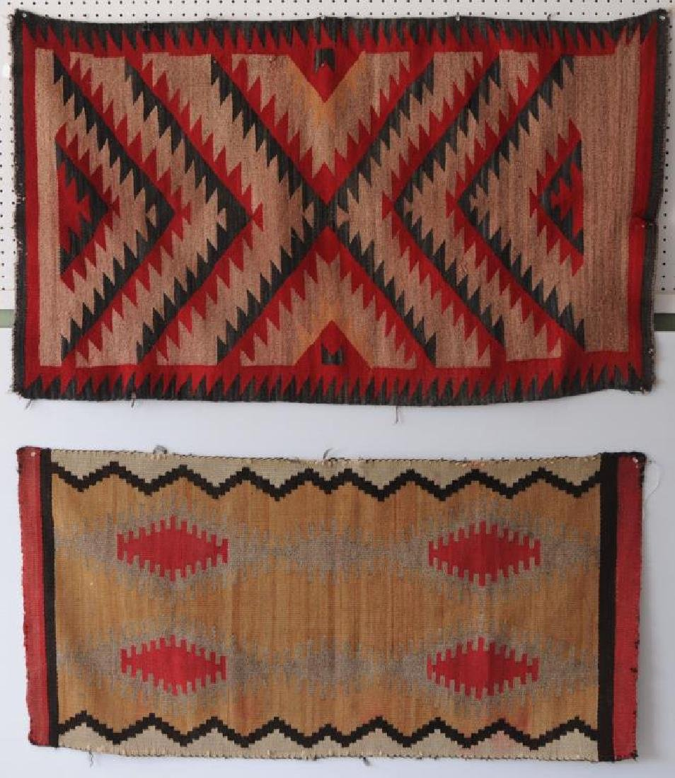 2 EARLY 20TH C. NAVAJO WEAVINGS ONE WITH