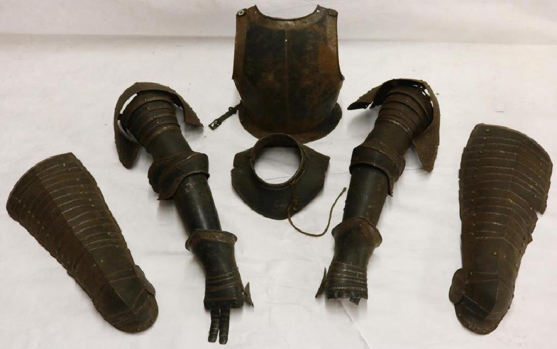 PARTIAL SUIT OF 16TH C. ENGLISH ARMOR TO INCLUDE