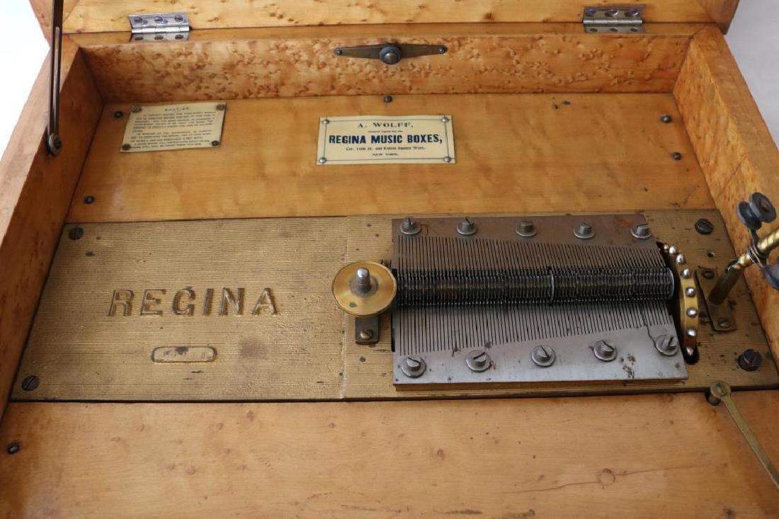 """REGINA DOUBLE CONE MUSIC BOX W/ EIGHT 15 1/2"""" - 2"""