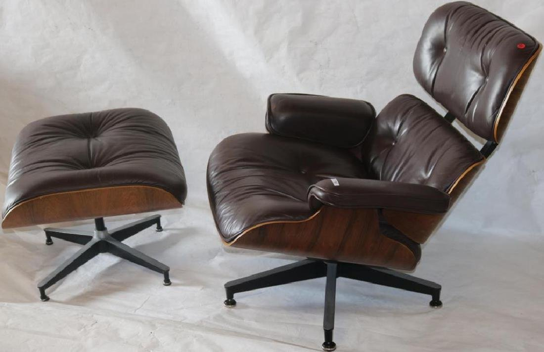 HERMAN MILLER EAMES STRESSLESS CHOCOLATE LEATHER