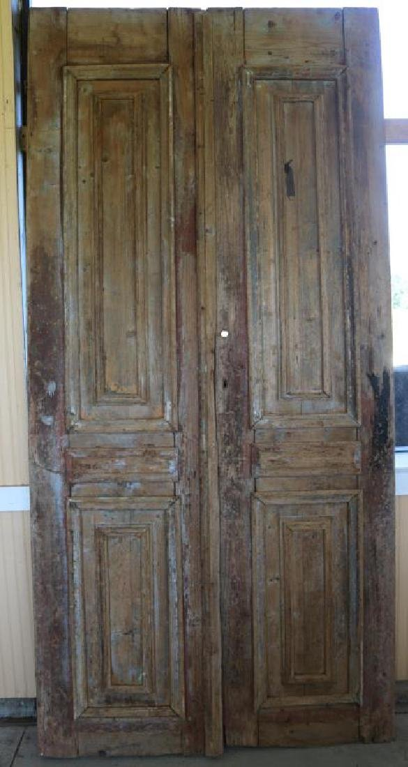 PAIR OF 19TH C EGYPTIAN WOODEN DOORS RAISED