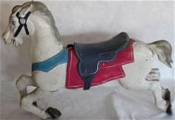 1920'S CAROUSEL HORSE, WOODEN BODY W/