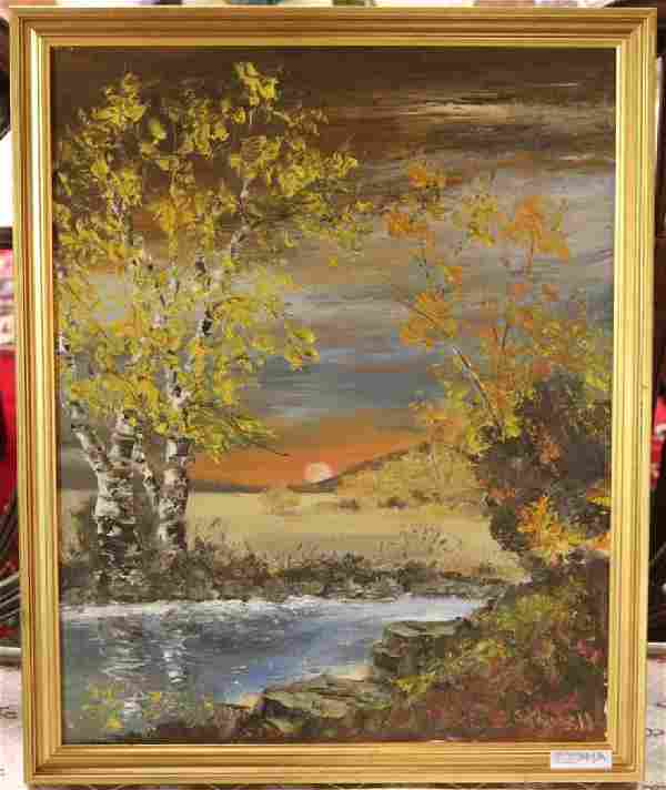OIL ON CANVAS BY M LOUISE STOWELL SIGNED LOWER