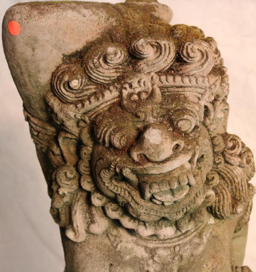 EARLY 20TH C. CAST AND CARVED CEMENT INDONESIAN - 2