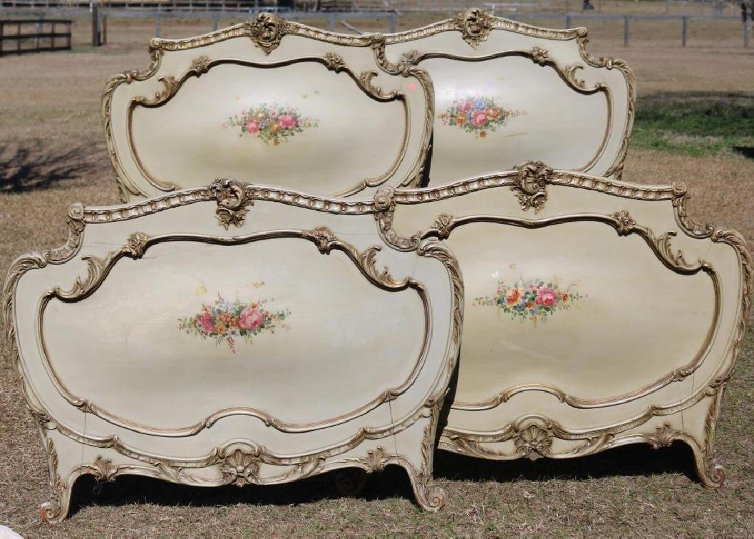 MATCHING PAIR OF CARVED AND  FRENCH 1910 SINGLE