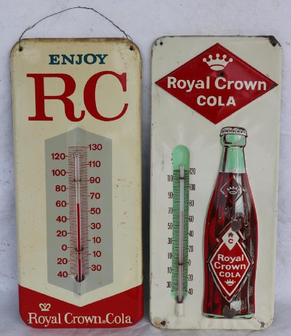 2 RC COLA ADVERTISING THERMOMETERS, BOTH IN