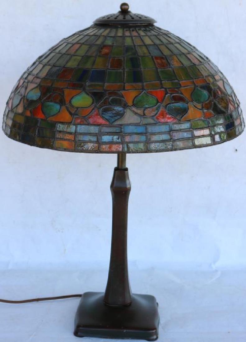 HANDEL LAMP BASE FITTED W/ACORN STYLE LEADED