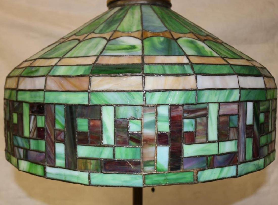 LEADED GLASS FLOOR LAMP INC. MULTICOLORED SHADE - 3