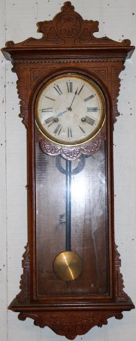 EM WELSH SEMBRICH 8 DAY STRIKING CLOCK W/ ORIGINAL