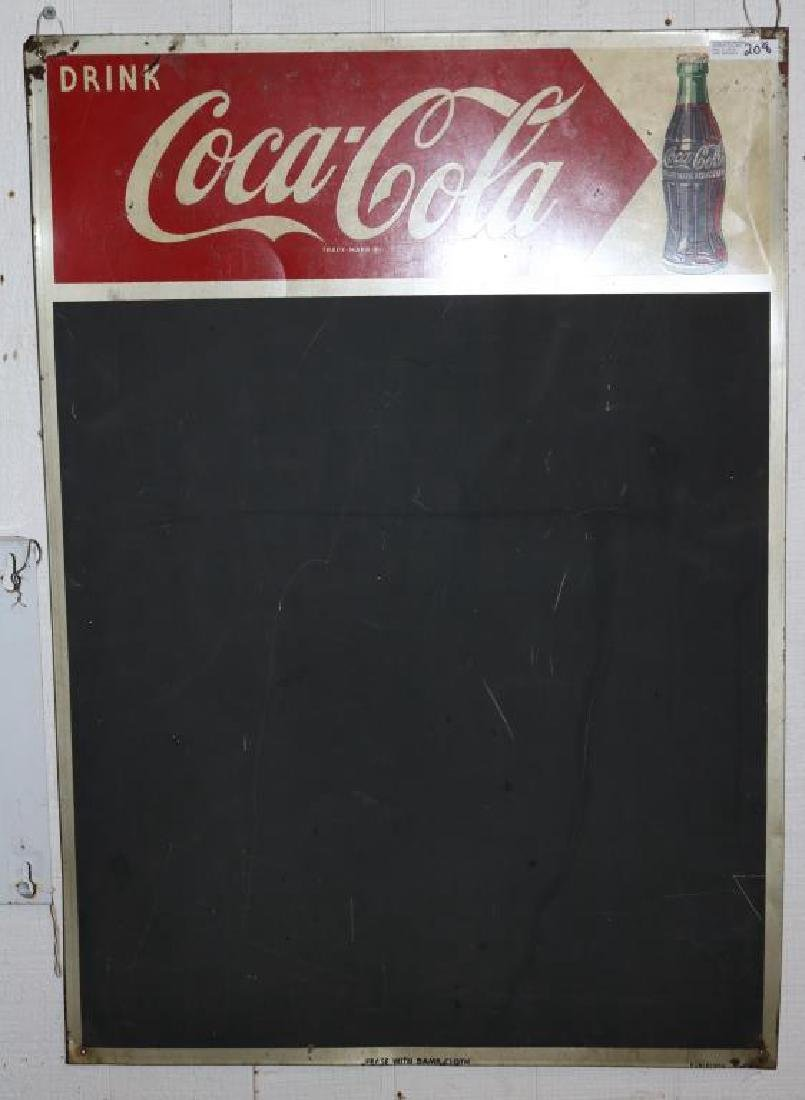 VINTAGE 1950'S LITHO TIN COCA COLA BLACKBOARD