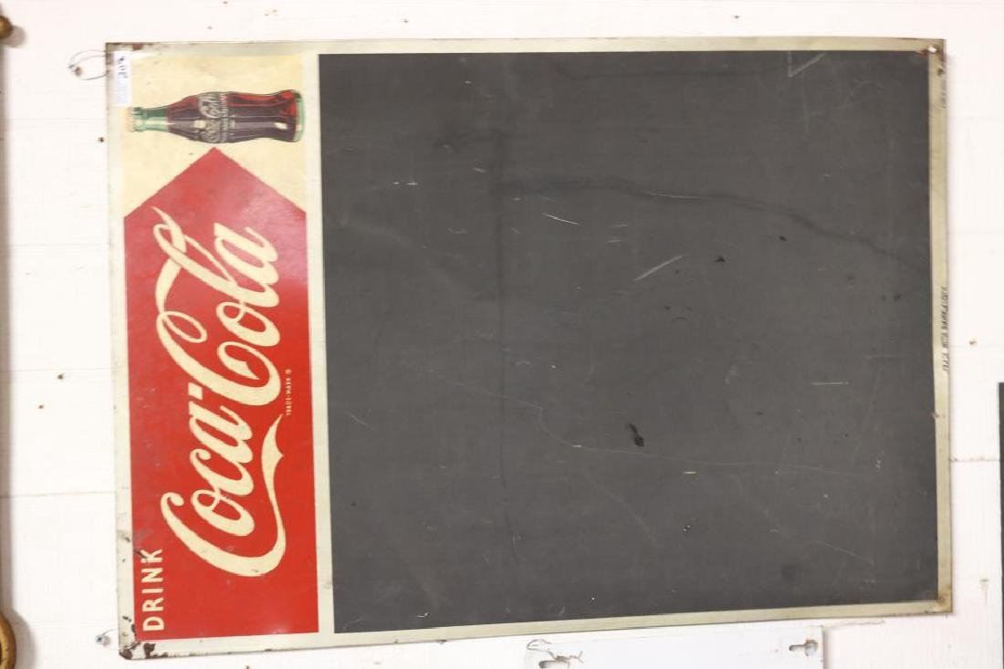 VINTAGE 1950'S LITHO TIN COCA COLA BLACKBOARD - 2
