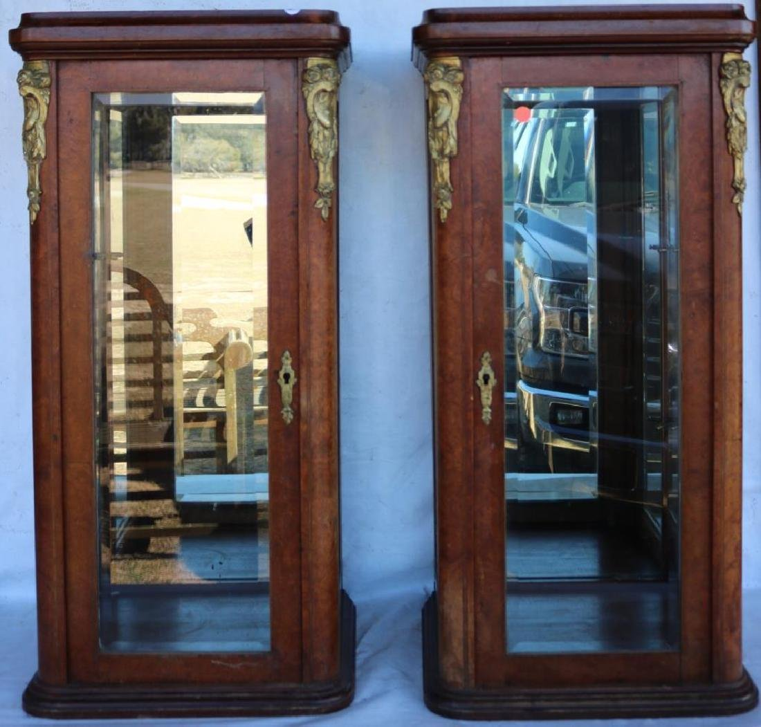PR FRENCH STYLE CABINETS W/ BEVELED GLASS PANELS,