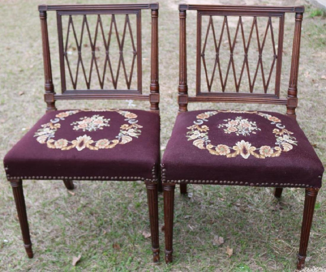 PR OF 1940'S MAHOGANY REGENCY STYLE SIDE CHAIRS