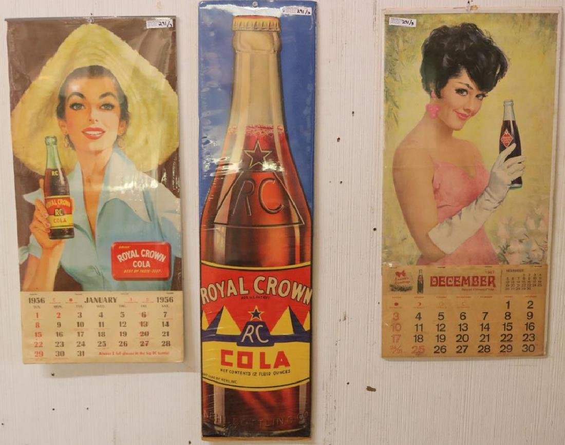 LOT OF 3 ROYAL CROWN COLA ADVERTISING ITEMS INC.
