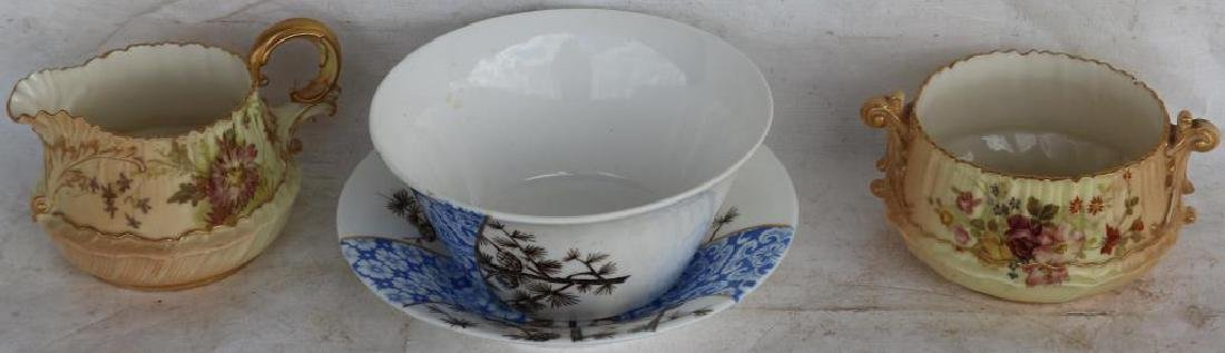 4 PCS ROYAL WORCESTER INC CREAM AND OPEN SUGAR,