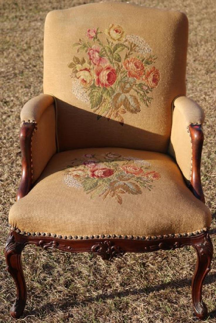 EXCEPTIONAL QUALITY VICTORIAN ARM CHAIR,