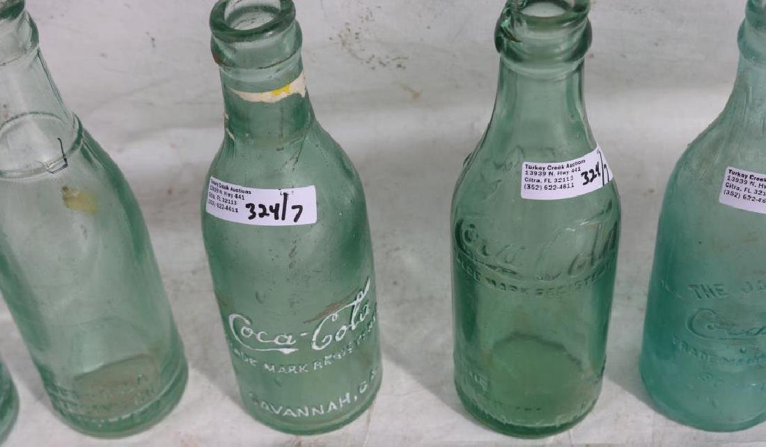 COLLECTION OF 7 VARIOUS STYLE EARLY COKE BOTTLES, - 4