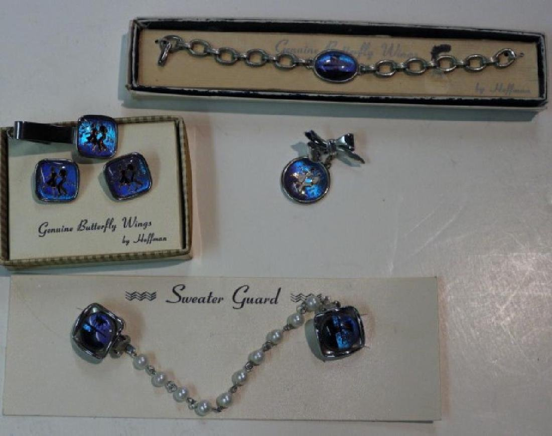 COLLECTION VINTAGE BUTTERFLY WING JEWELRY