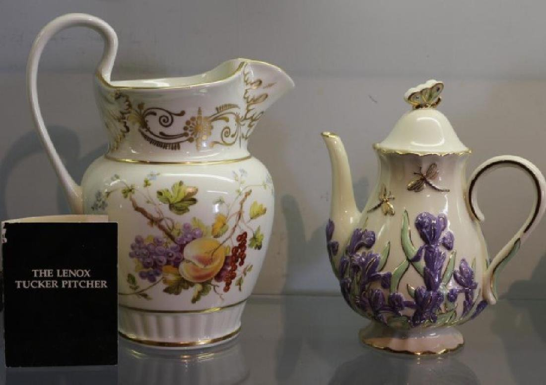 LENOX TUCKER PITCHER, 2 ROYAL DANUBE PITCHERS AND