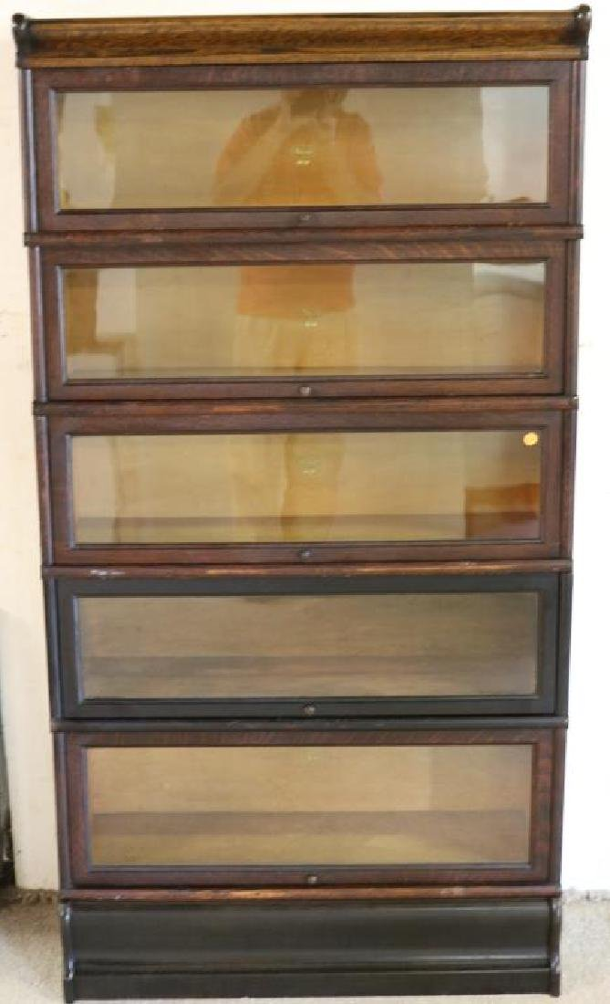 OAK 5 STACK BARRISTER BOOKCASE BY MACY, OLD