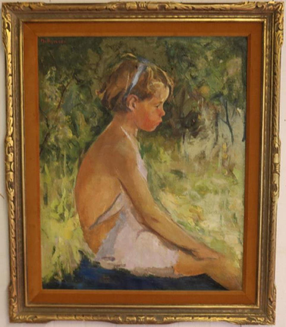 MARGERY A. RYERSON BORN 1886-1989 OIL ON CANVAS