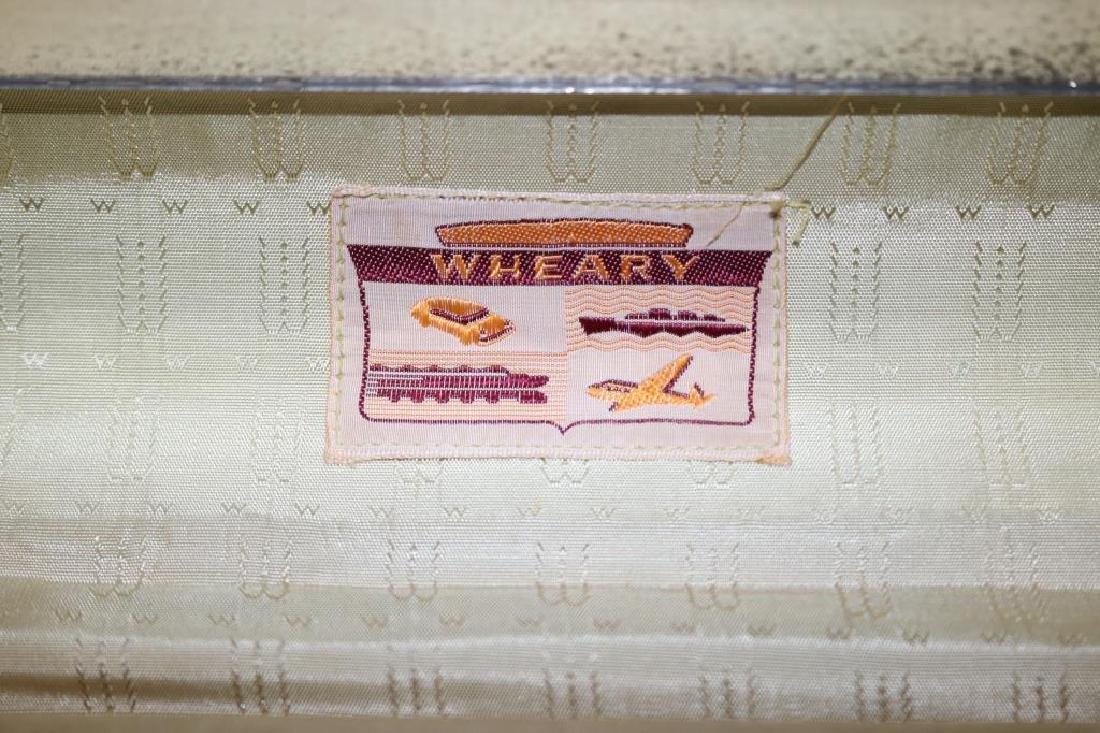 VINTAGE SET OF 1940'S WHEARY LUGGAGE W/CHROME - 4